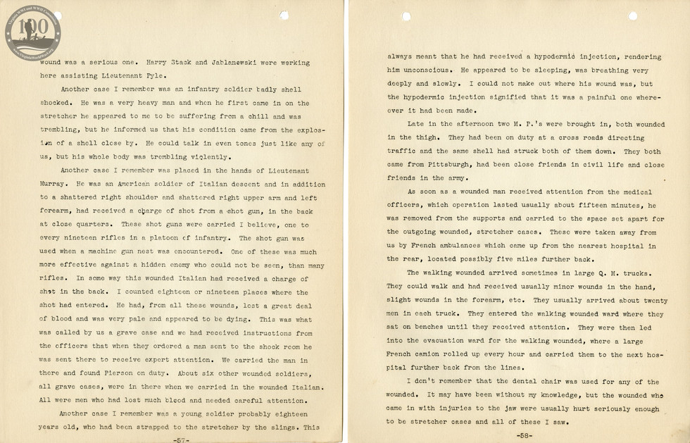 318th Field Hospital History - Pages 057-058