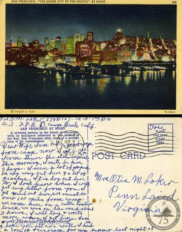 Loker, Otis M. - WWII Letter