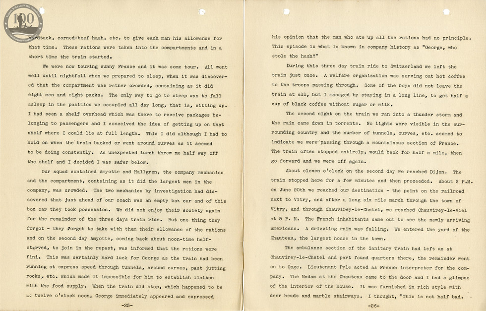 318th Field Hospital History - Pages 025-026