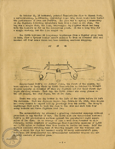 """Highlights from """"The History of the 318th Fighter Group"""" - Page 06"""