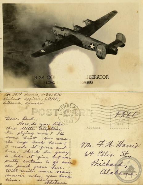 Harris, Wallace A. - WWII Postcard