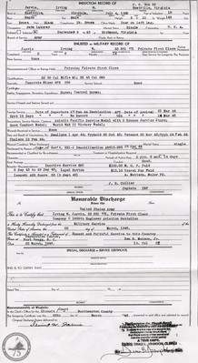 Jarvis, Irving W. - WWII Document