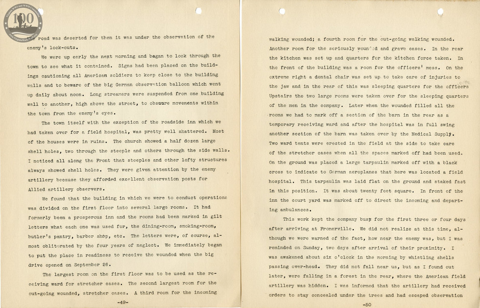 318th Field Hospital History - Pages 049-050