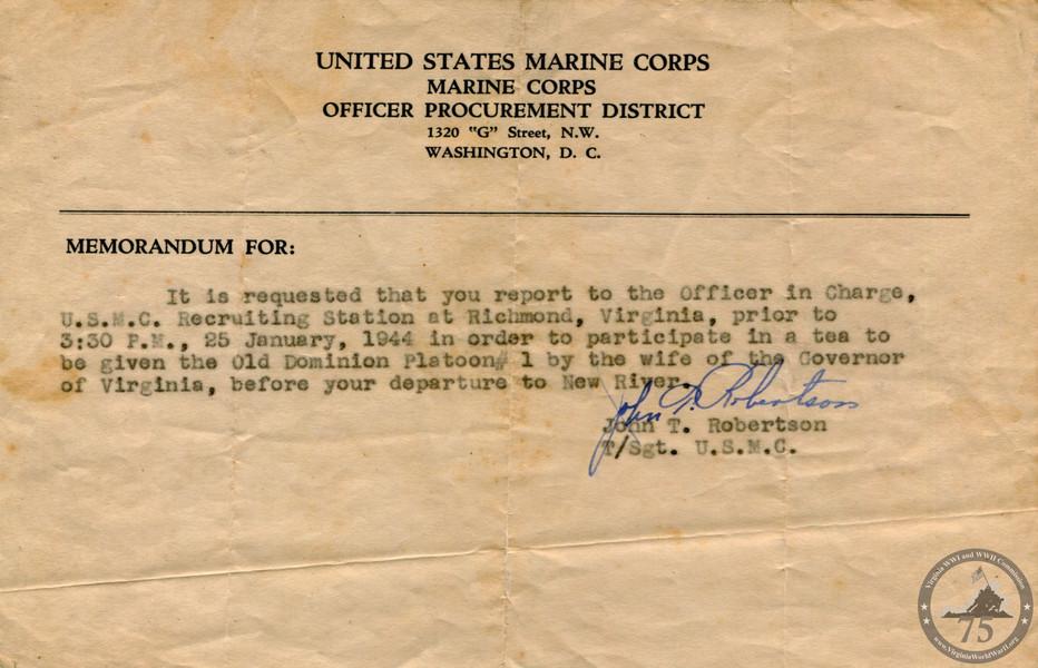 Barrows, Shirley Mitchell - WWII Document