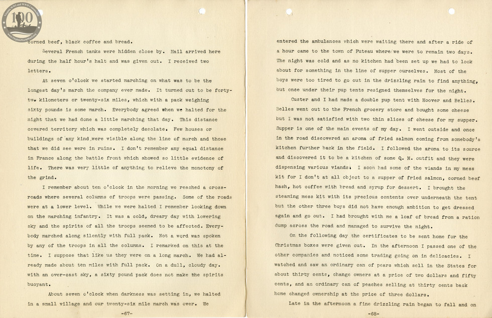 318th Field Hospital History - Pages 067-068