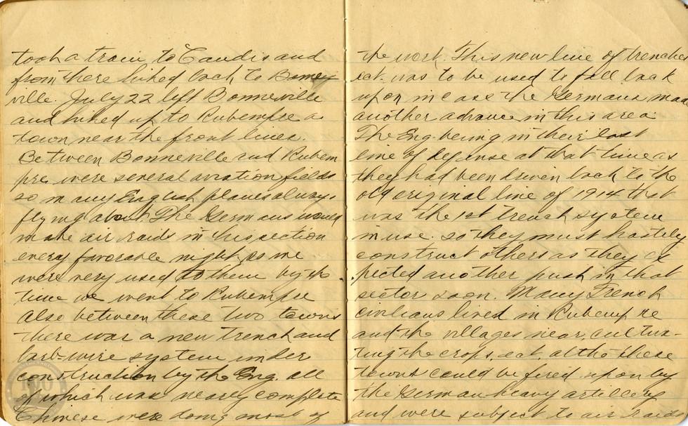 Life, Millard - WWI Diary #08