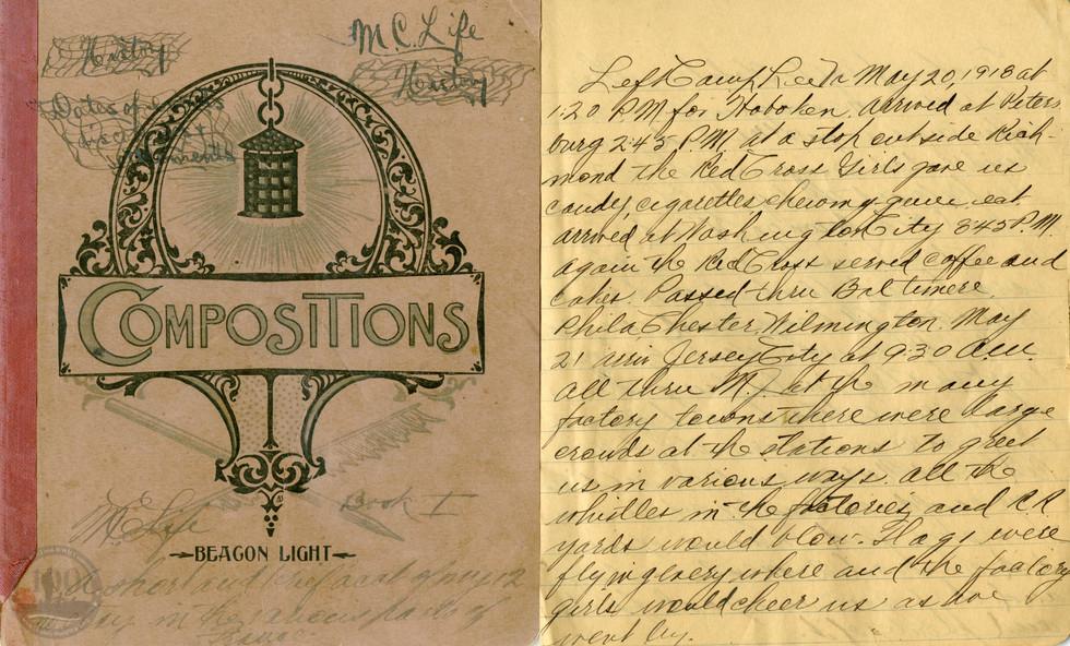 Life, Millard - WWI Diary #01
