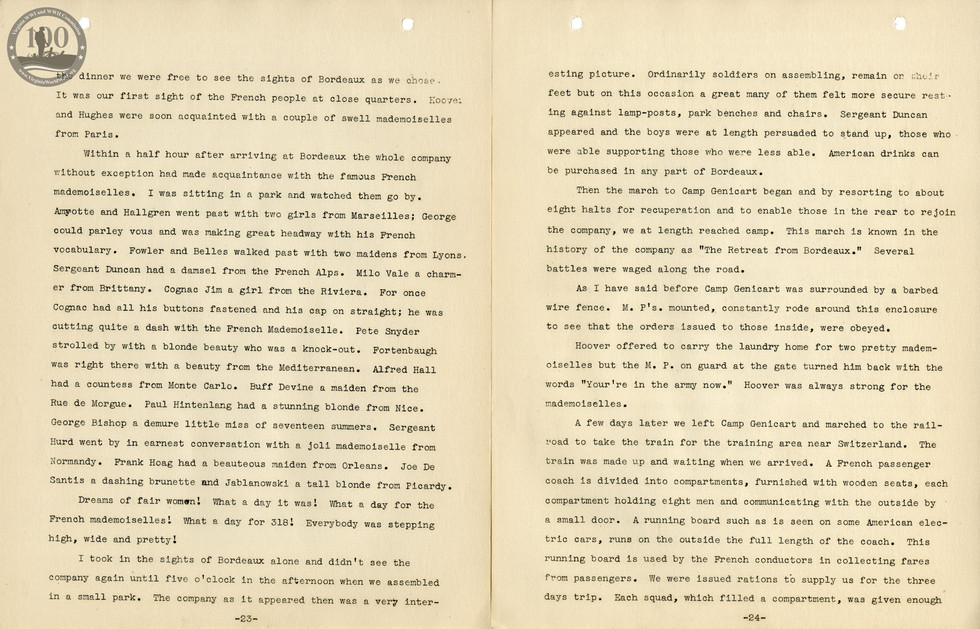 318th Field Hospital History - Pages 023-024