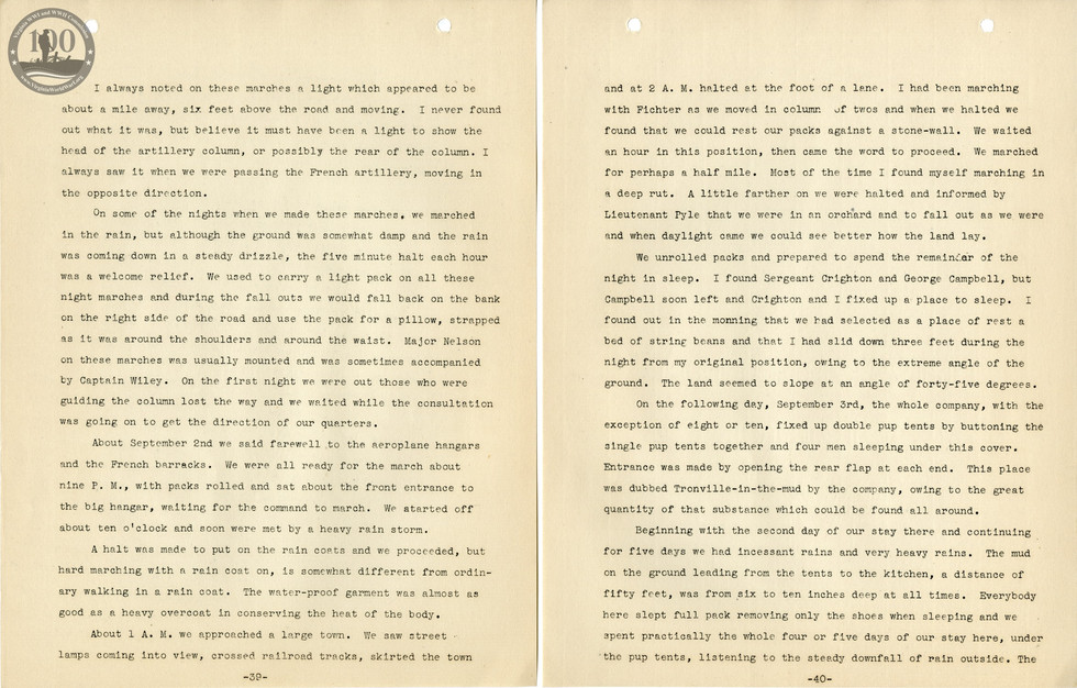 318th Field Hospital History - Pages 039-040
