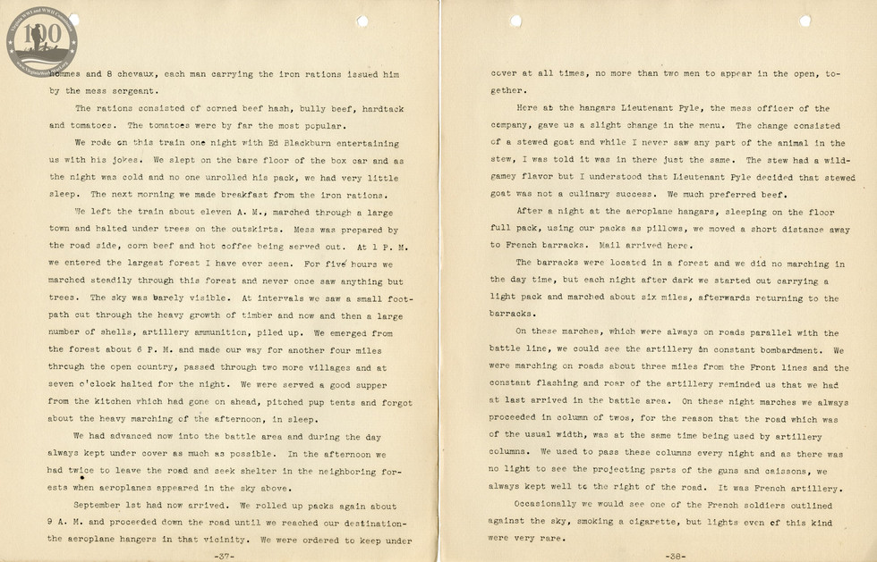 318th Field Hospital History - Pages 037-038