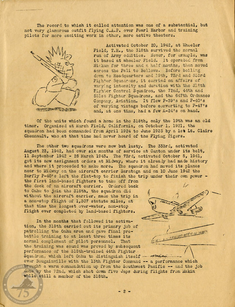 "Highlights from ""The History of the 318th Fighter Group"" - Page 02"