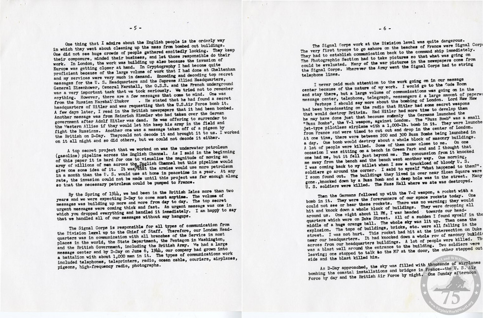 Crouch, John Campbell - WWII Document
