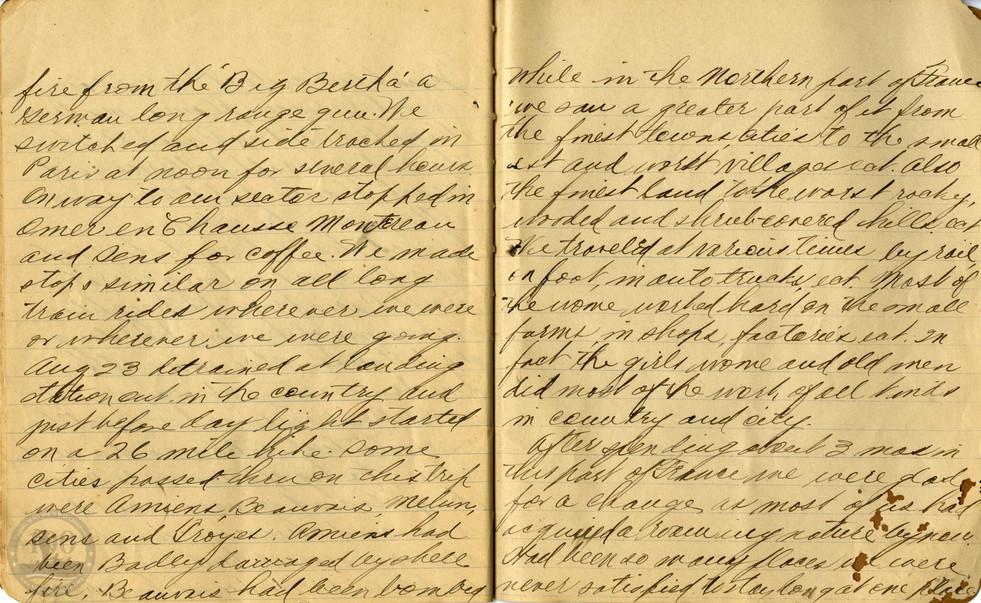 Life, Millard - WWI Diary #21