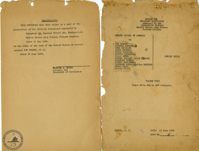 Manila War Crimes Trials - 1