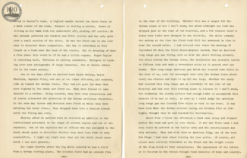 318th Field Hospital History - Pages 063-064
