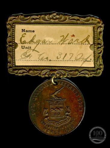 Ward, Edgar L. - WWI Medal