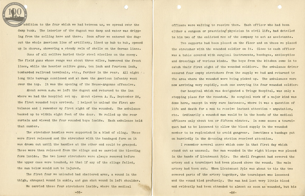 318th Field Hospital History - Pages 055-056