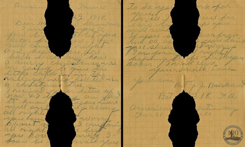 Burkhead, Junius - WWI Letter