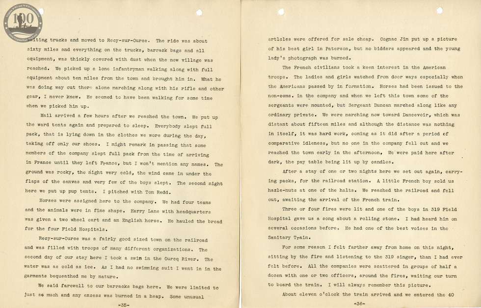 318th Field Hospital History - Pages 035-036
