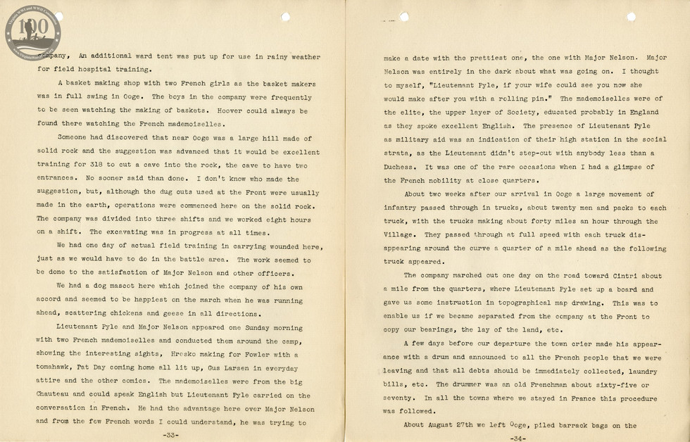 318th Field Hospital History - Pages 033-034