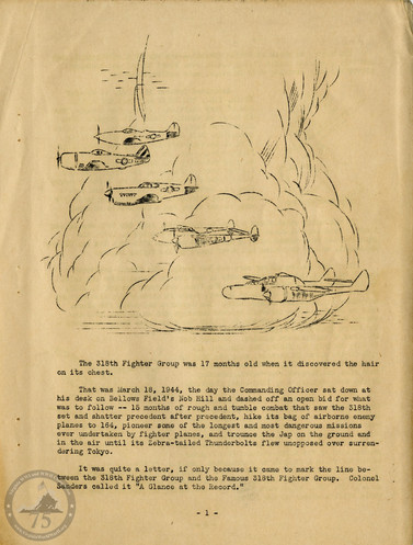 """Highlights from """"The History of the 318th Fighter Group"""" - Page 01"""