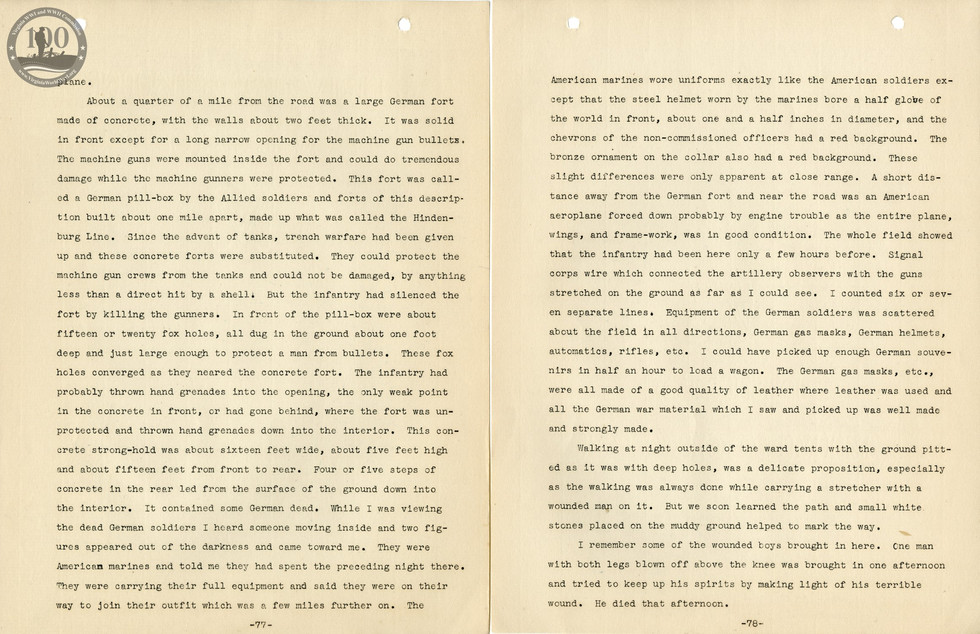 318th Field Hospital History - Pages 077-078