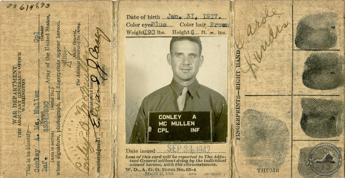 McMullen, Conley A. - WWII Item