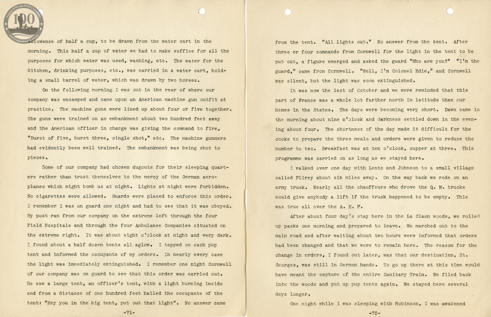 318th Field Hospital History - Pages 071-072