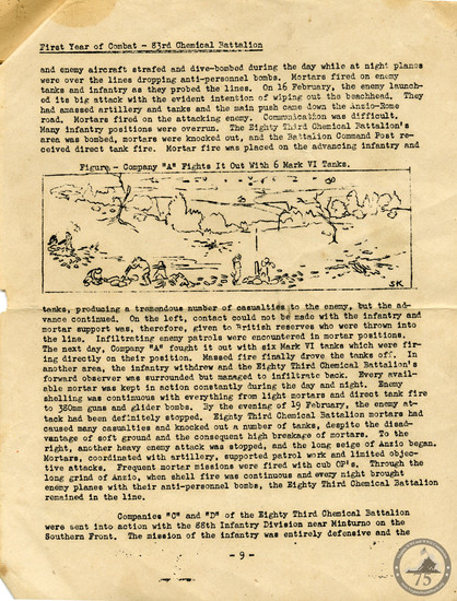 """""""Rounds Away"""" a year-in-the-life of 83rd Chemical Battalion during WWII. (12)"""