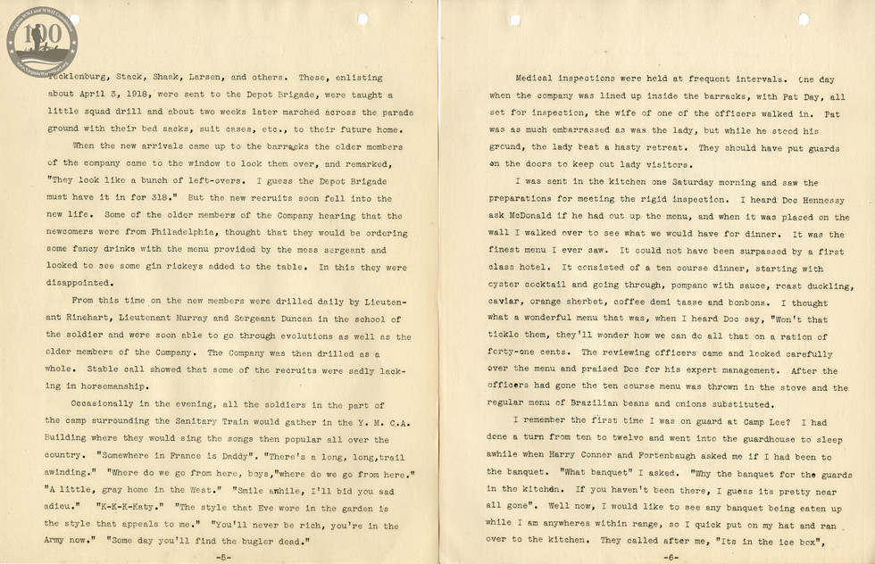 318th Field Hospital History - Pages 005-006