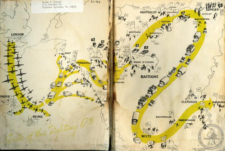 Gulick, David - WWII Map