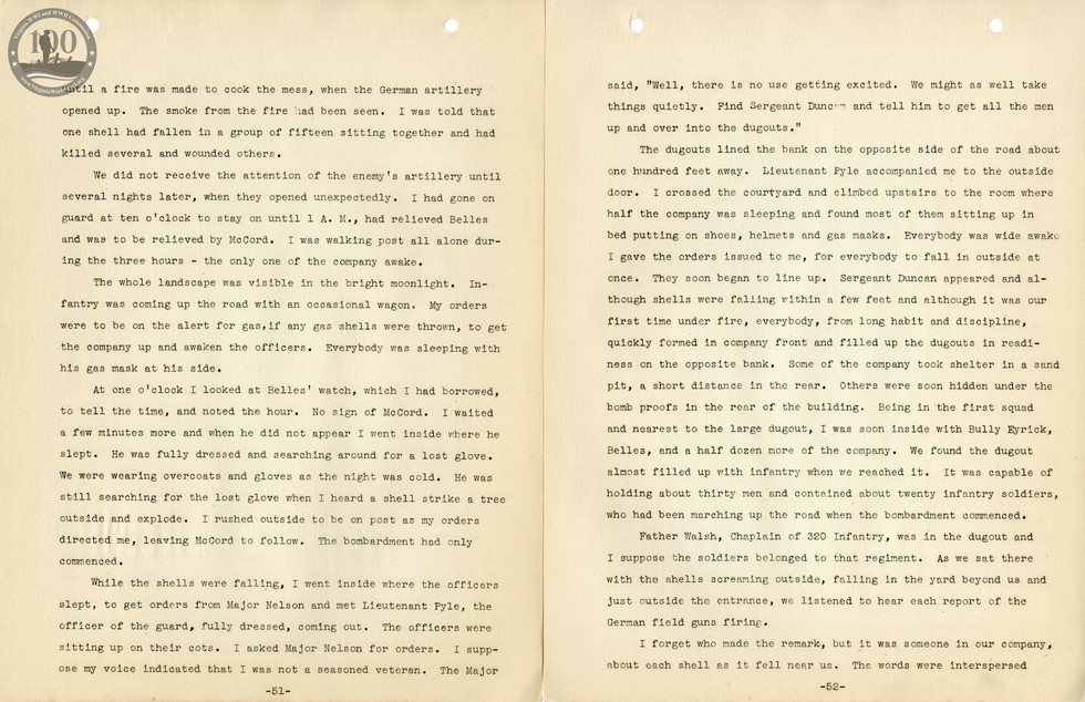 318th Field Hospital History - Pages 051-052