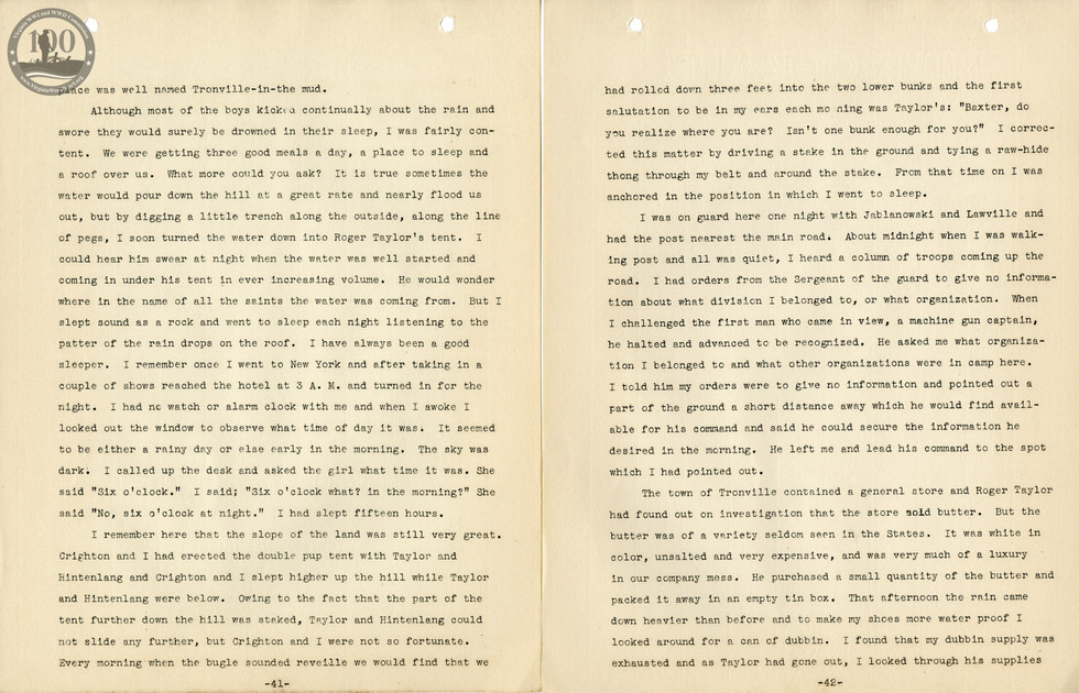 318th Field Hospital History - Pages 041-042
