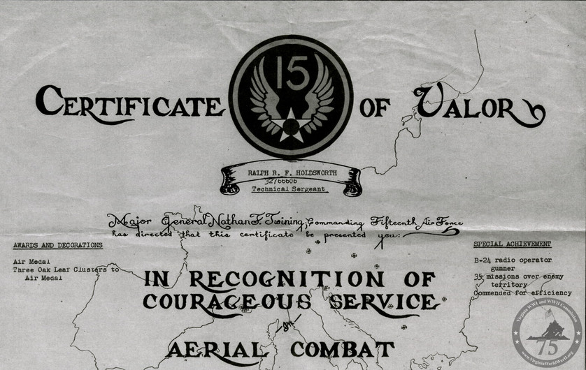 Holdsworth, Ralph - WWII Document