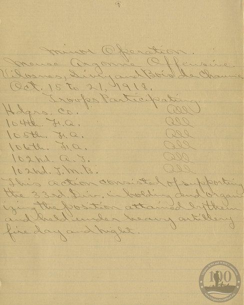 Whitehouse, Robert - WWI Document