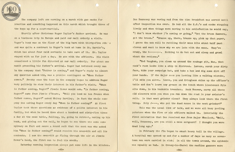 318th Field Hospital History - Pages 093-094