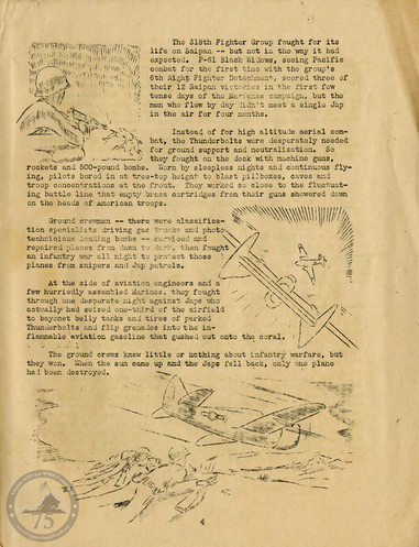 """Highlights from """"The History of the 318th Fighter Group"""" - Page 04"""
