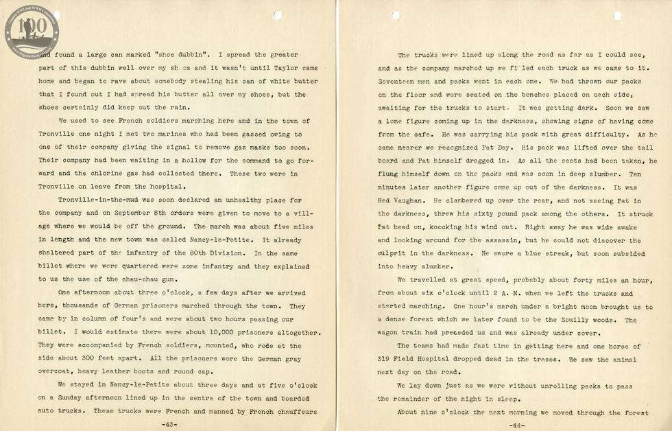 318th Field Hospital History - Pages 043-044
