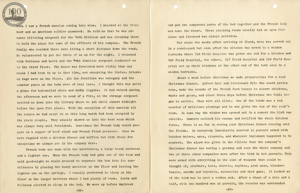 318th Field Hospital History - Pages 089-090