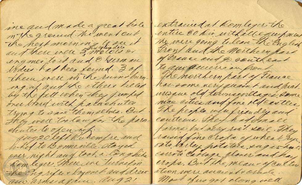 Life, Millard - WWI Diary #19