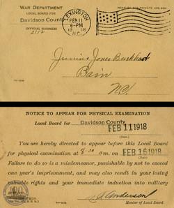 Burkhead, Junius - WWI Document