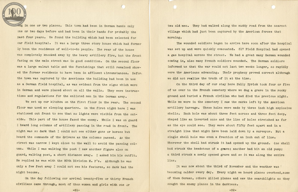 318th Field Hospital History - Pages 081-082