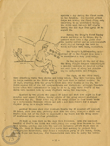 """Highlights from """"The History of the 318th Fighter Group"""" - Page 11"""