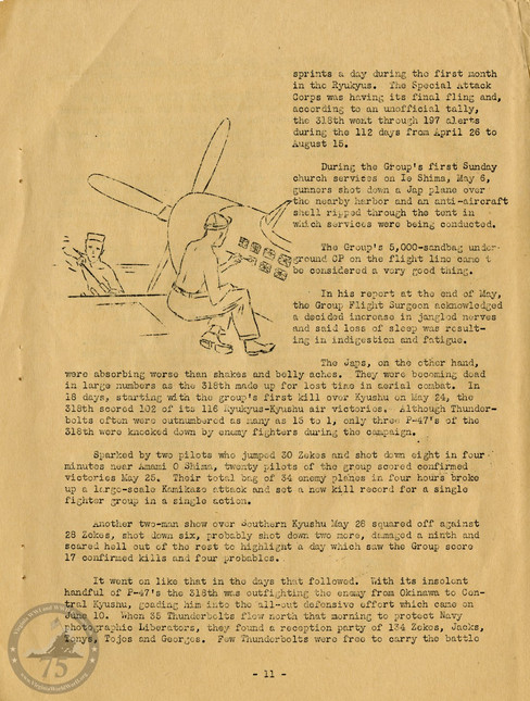 "Highlights from ""The History of the 318th Fighter Group"" - Page 11"