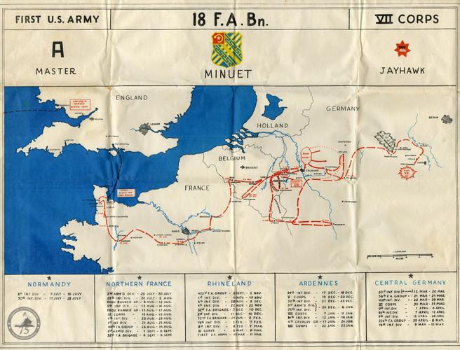 Custis, Carl - WWII Map