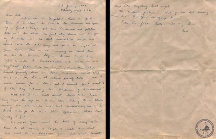 Custis, Carl - WWII Letter