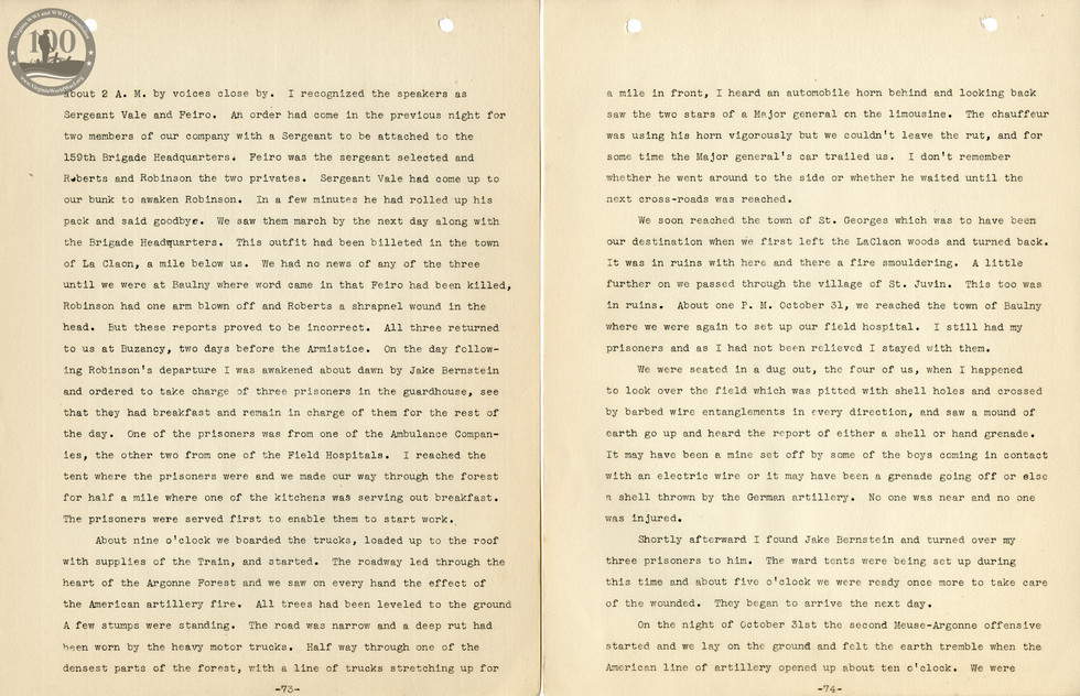 318th Field Hospital History - Pages 073-074