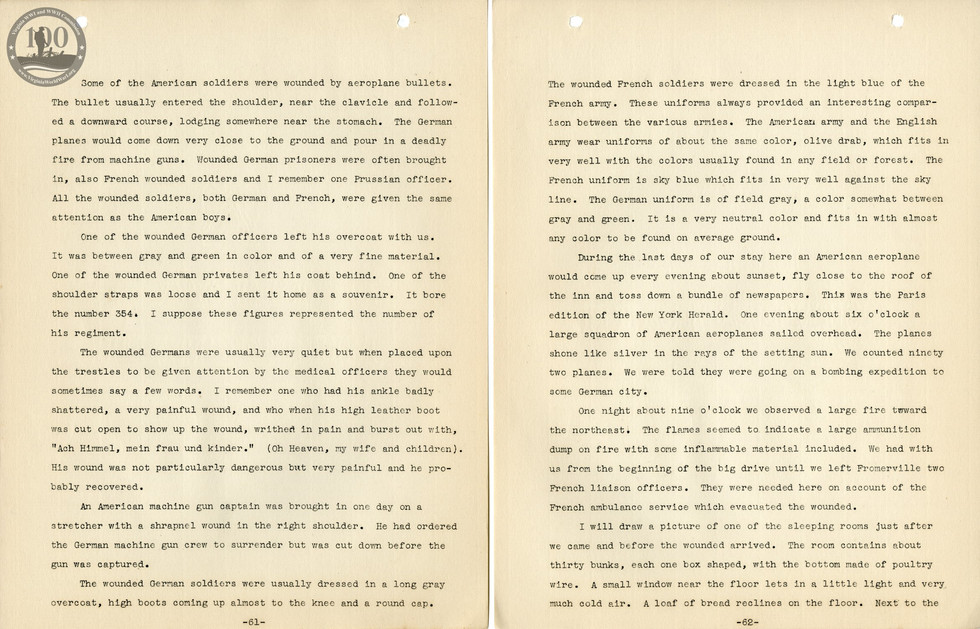 318th Field Hospital History - Pages 061-062
