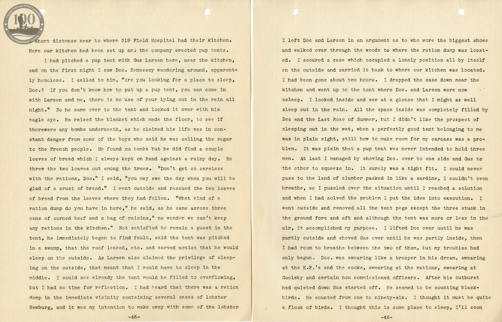 318th Field Hospital History - Pages 045-046