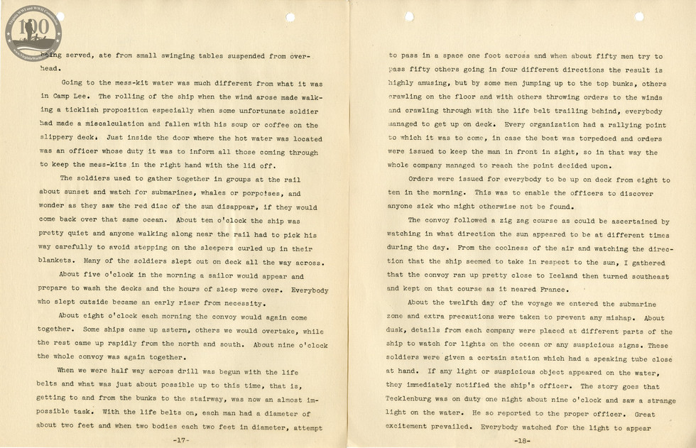 318th Field Hospital History - Pages 017-018
